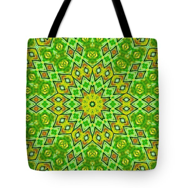 Tote Bag featuring the digital art Radiating Patterns by Susan Leggett