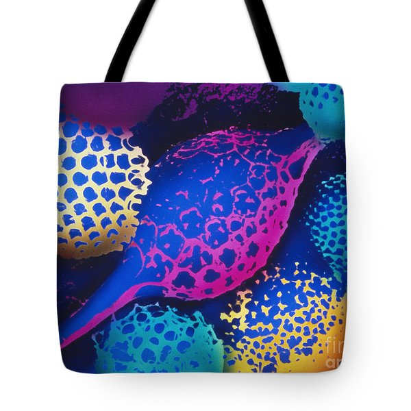 Radiolarians Tote Bag by Omikron