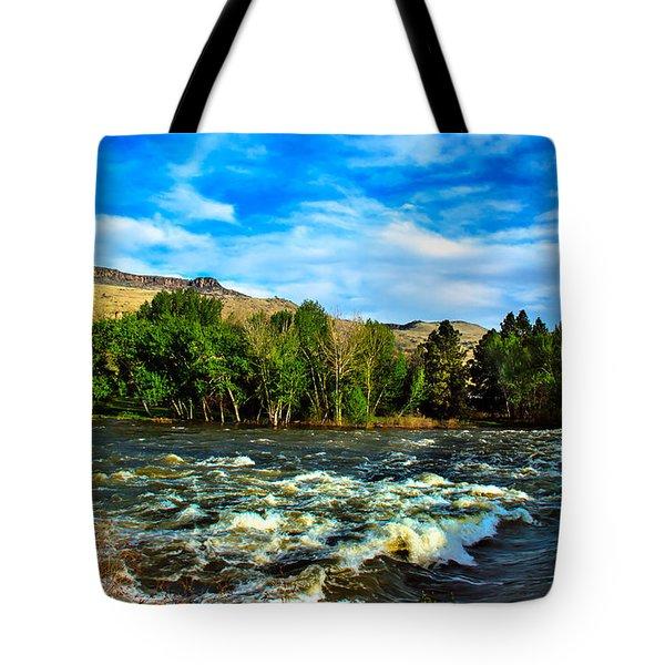 Raging River Tote Bag by Robert Bales