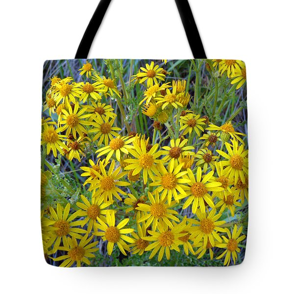 Ragwort - Tansy Tote Bag by Pamela Patch