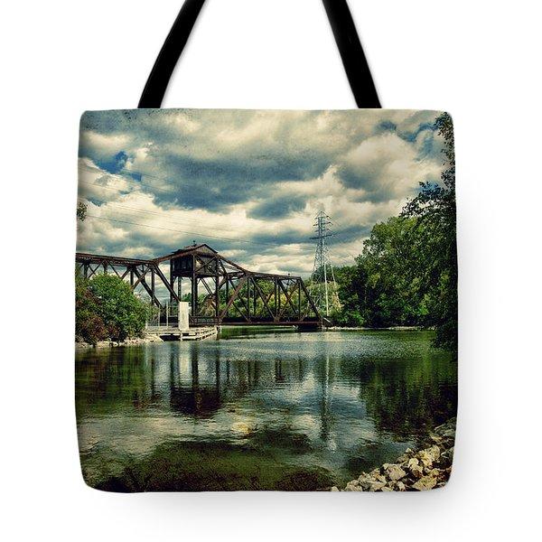 Rail Swing Bridge Tote Bag by Joel Witmeyer