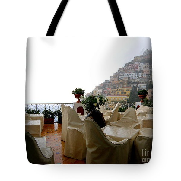 Rain In Positano  2 Tote Bag by Tanya  Searcy