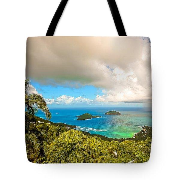 Rain In The Tropics Tote Bag by Keith Allen