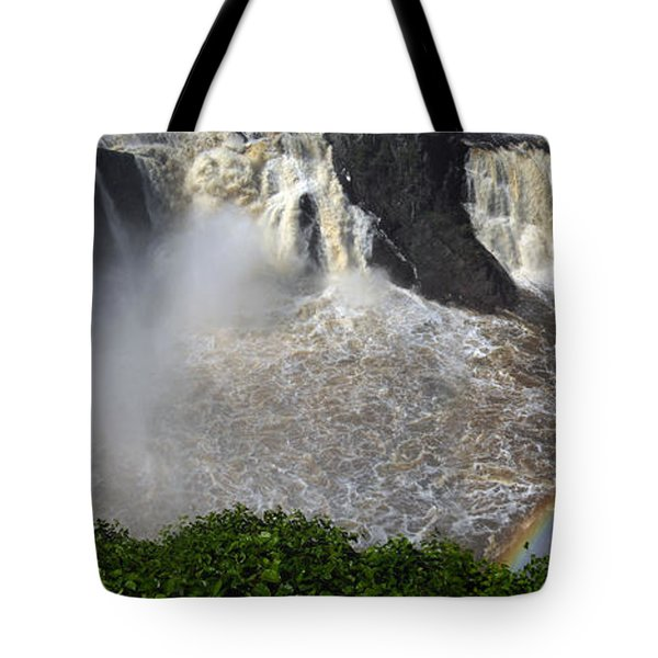 Tote Bag featuring the photograph Rainbow And The Waterfall by Vilas Malankar