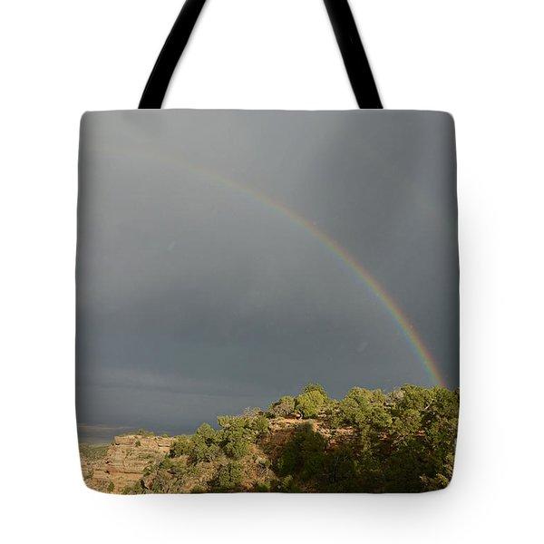 Rainbow At Grand Canyon Tote Bag
