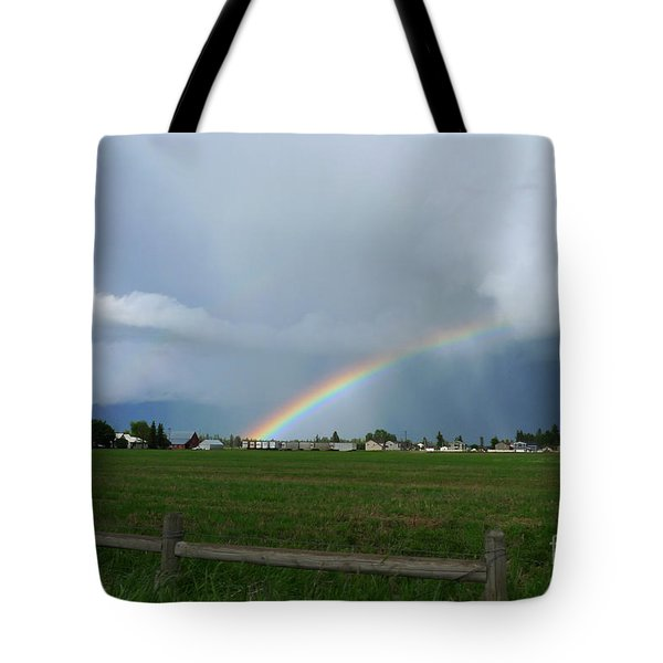 Rainbow Before The Storm Tote Bag