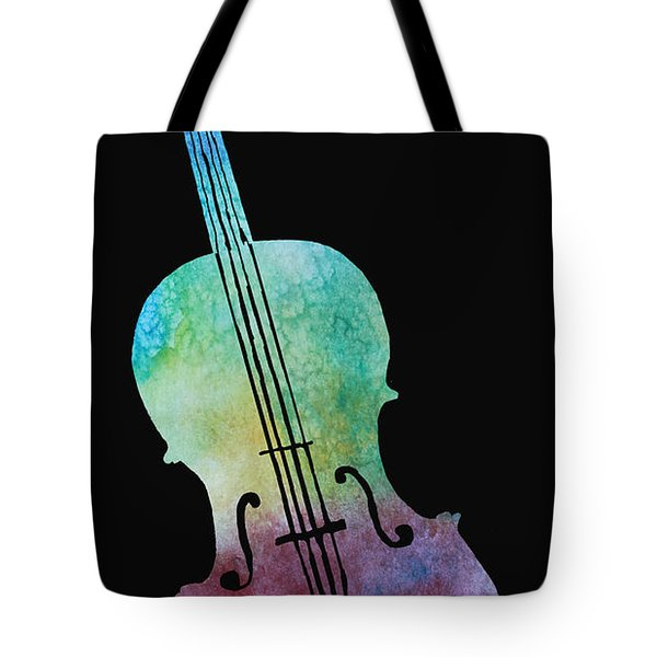 Rainbow Cello Tote Bag by Jenny Armitage