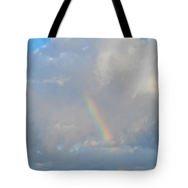 Tote Bag featuring the photograph Rainbow From Molokai by Kirsten Giving