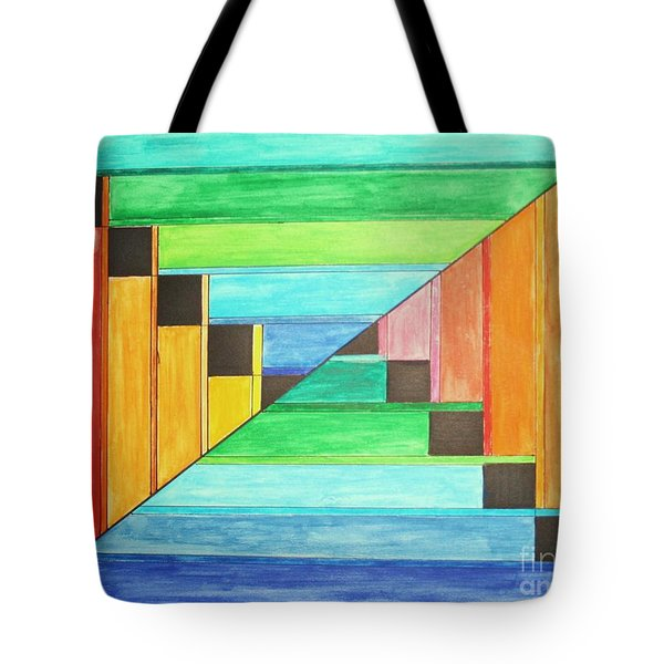 Rainbow In Line Tote Bag