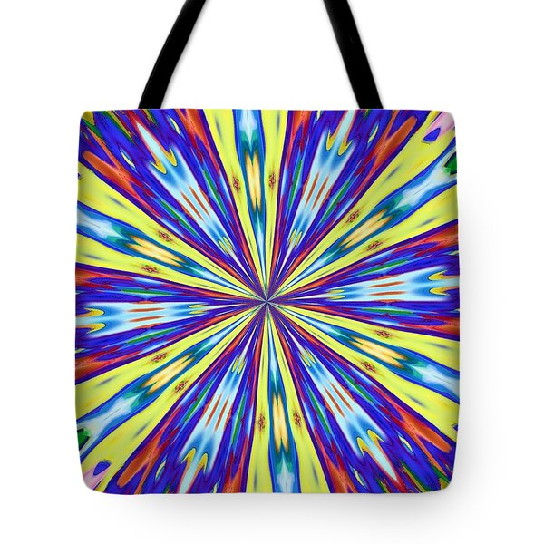 Tote Bag featuring the digital art Rainbow In Space by Alec Drake