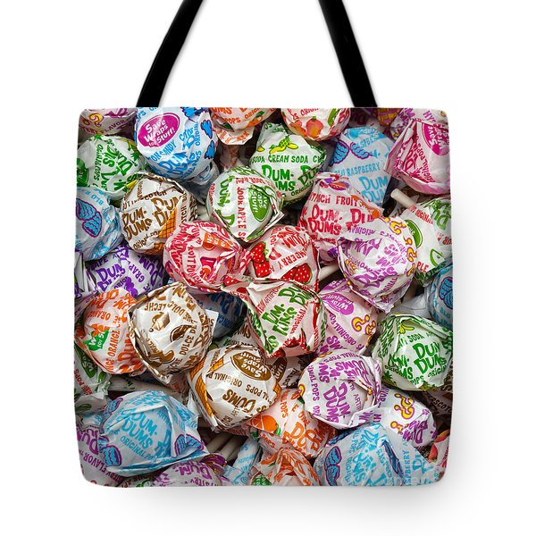 Rainbow Lollipops Square Tote Bag by Andee Design