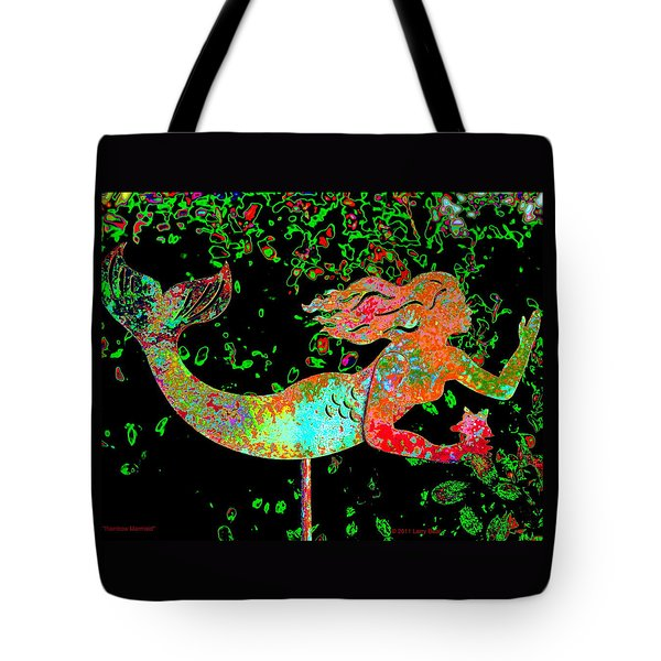 Rainbow Mermaid Tote Bag