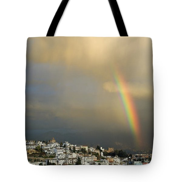 Rainbow Over Granada Yesterday Tote Bag by Guido Montanes Castillo