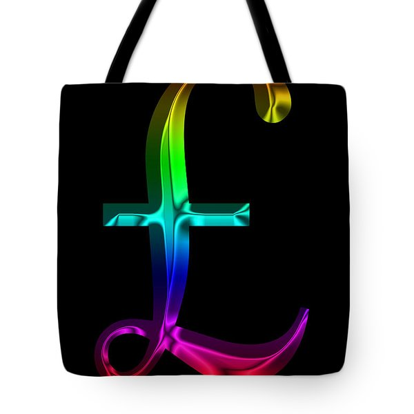 Rainbow Pound Sterling Tote Bag by Andrew Fare