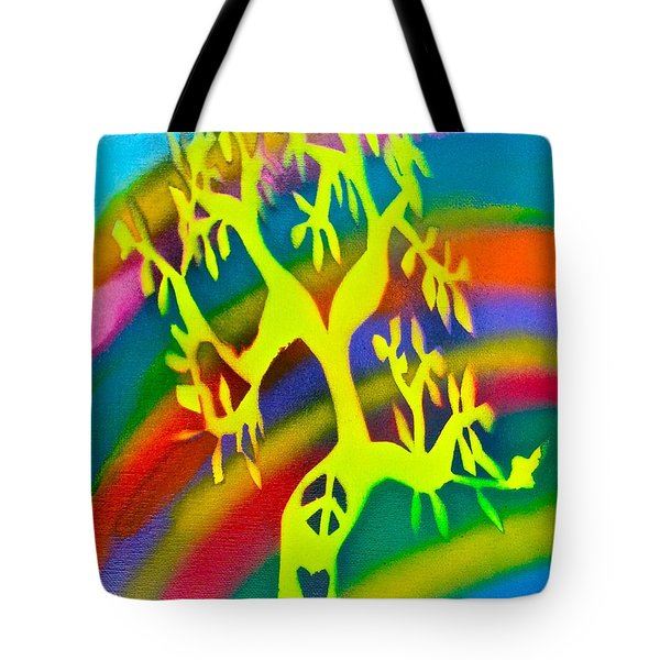 Rainbow Roots Tote Bag by Tony B Conscious