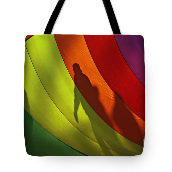 Rainbow Shadows Tote Bag