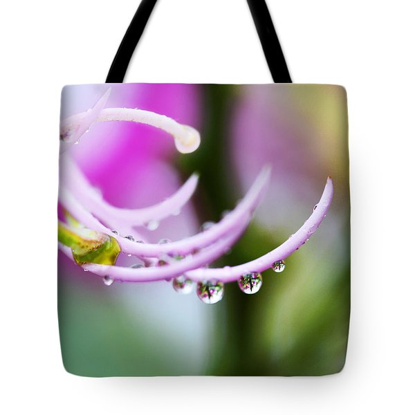 Raindrops On Amherstia Nobilis Tote Bag by Marilyn Hunt