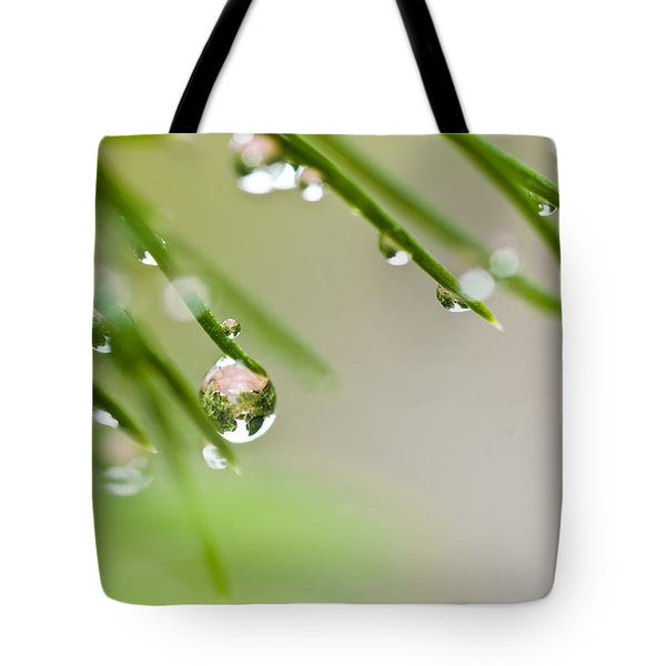 Raindrops On Needles Tote Bag by Trevor Chriss