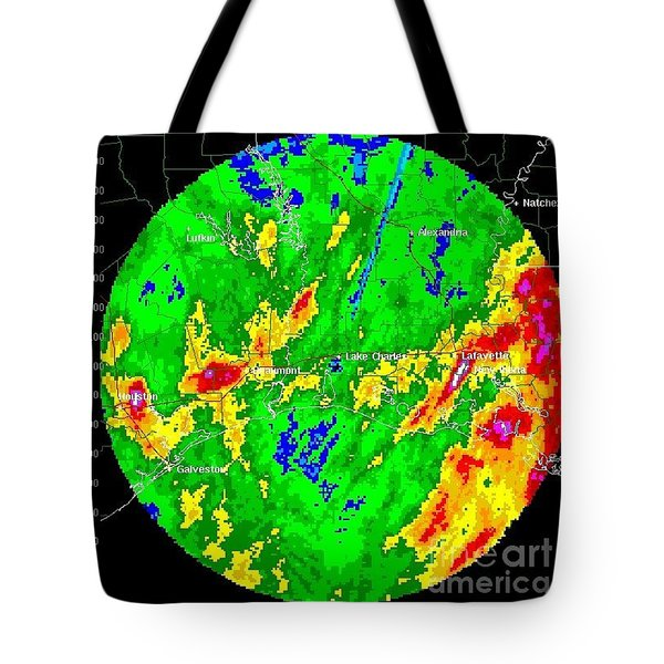 Rainfall Totals Tropical Storm Allison Tote Bag by Science Source