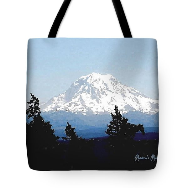 Rainier Reign Tote Bag by Sadie Reneau