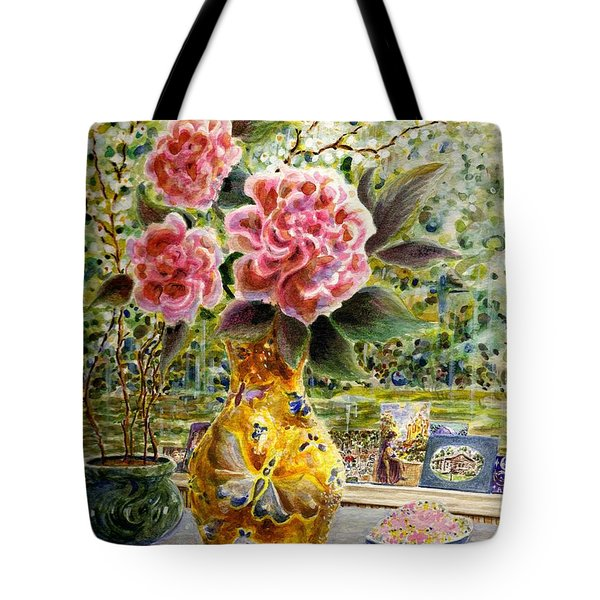 Tote Bag featuring the painting Rainy Afternoon Joy by Dee Davis