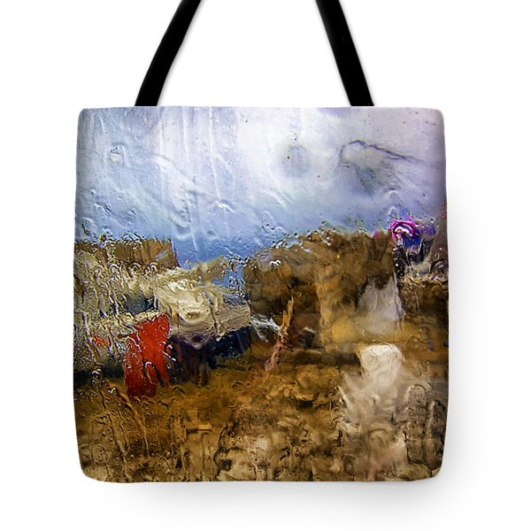 Rainy Day Abstract 3 Tote Bag by Madeline Ellis