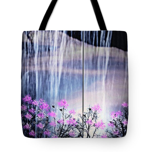 Tote Bag featuring the digital art Rainy Nights In Georgia by Sherri  Of Palm Springs