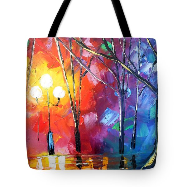 Rainy Rendezvous Tote Bag by Jessilyn Park