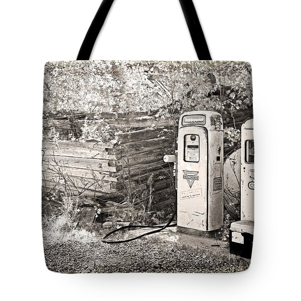 Ranch Gas Pumps Tote Bag by Lenore Senior and Dawn Senior-Trask
