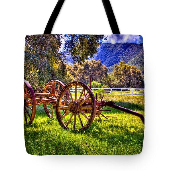 Rancho Oso Wagon Tote Bag by Bob and Nadine Johnston