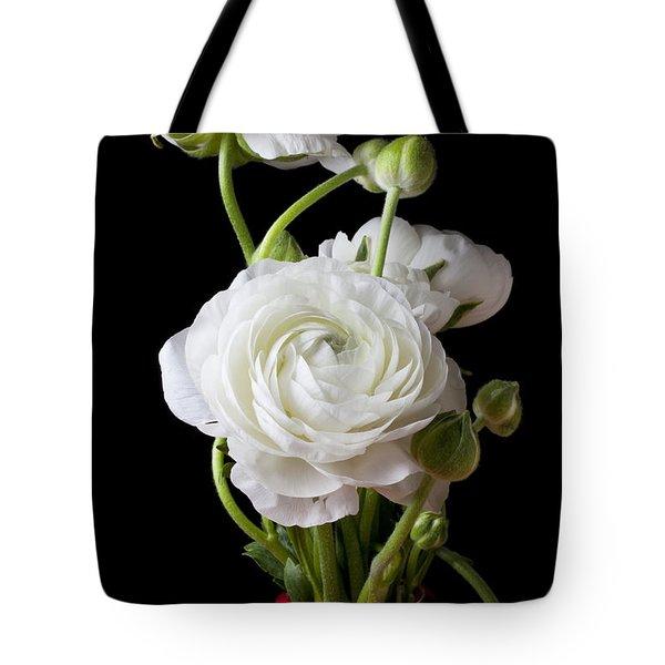 Ranunculus In Red Vase Tote Bag by Garry Gay