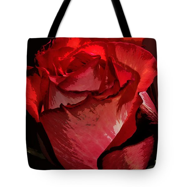 Rare Red Rose Tote Bag by Phyllis Denton