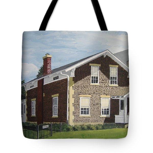 Tote Bag featuring the painting Rasey House by Norm Starks
