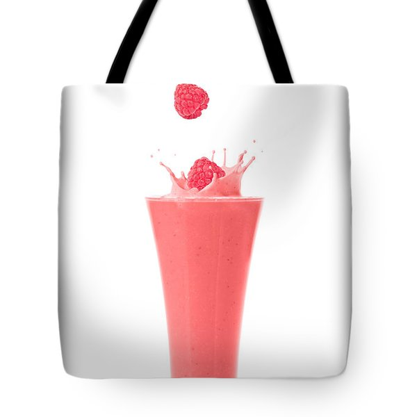 Raspberry And Strawberry Smoothie Tote Bag by Amanda Elwell