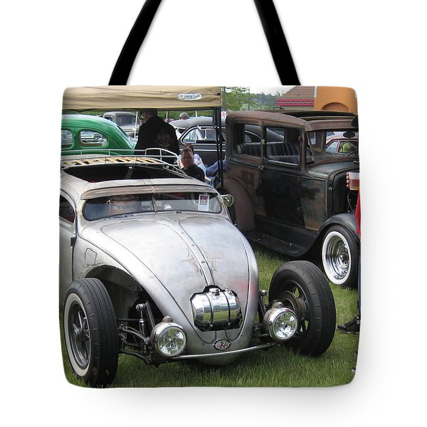 Rat Rod Many Parts Tote Bag by Kym Backland