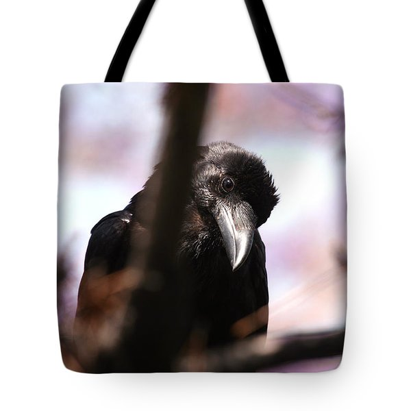 Raven Outside My Window Tote Bag
