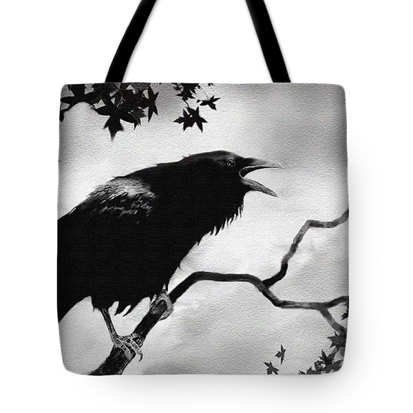 Raven's Song Tote Bag by Robert Foster