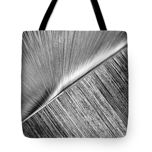 Rays And Lines. Black And White Tote Bag by Ausra Huntington nee Paulauskaite