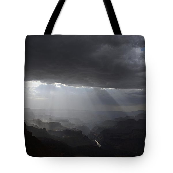 Rays In The Canyon Tote Bag