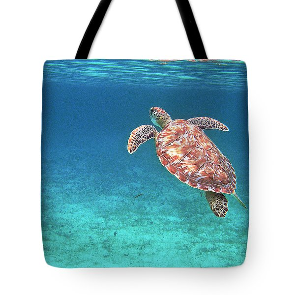Tote Bag featuring the photograph Reaching For Air by Li Newton