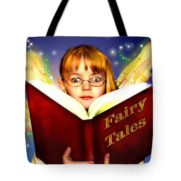 Tote Bag featuring the photograph Read More Fairy Tales by Nada Meeks