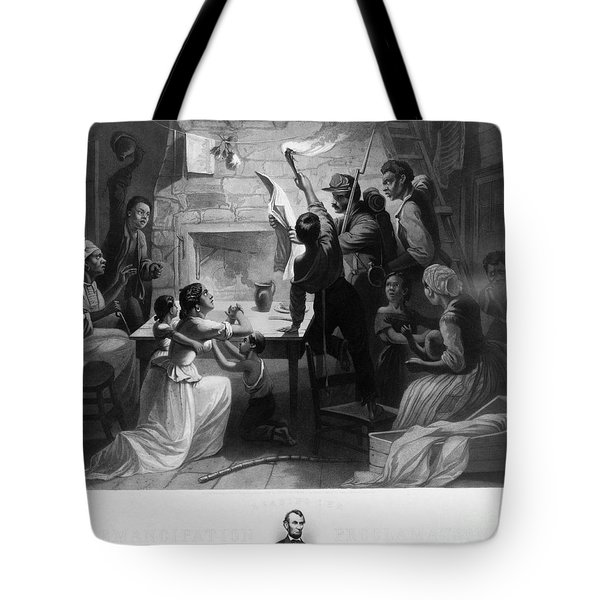 Reading Emancipation Proclamation Tote Bag by Photo Researchers