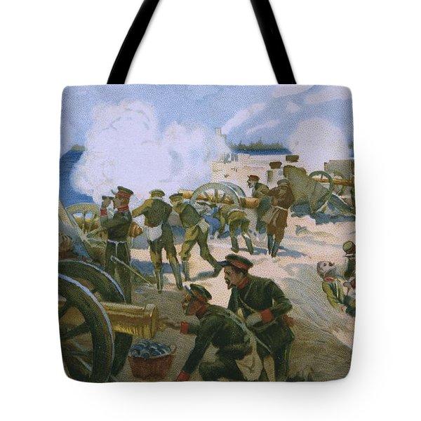Rebellion In Venice Tote Bag by Italian School
