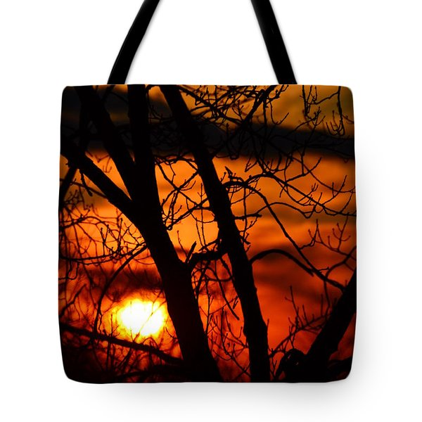 Red And Gold Tote Bag