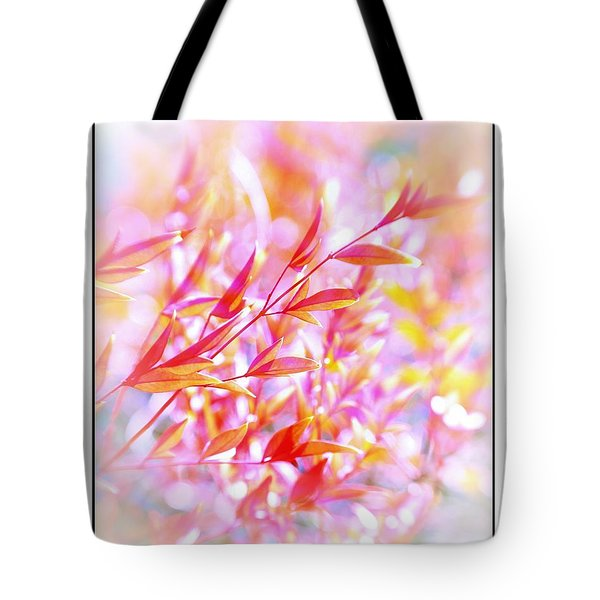 Red And Yellow Leaves Tote Bag by Judi Bagwell