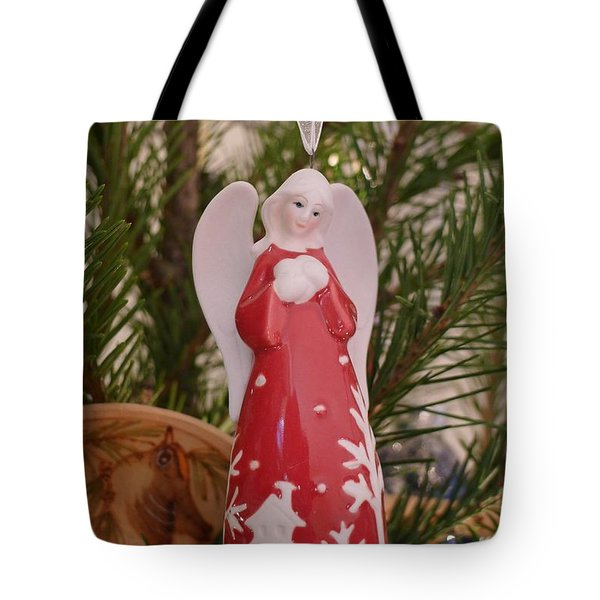 Tote Bag featuring the photograph Red Angel by Richard Reeve