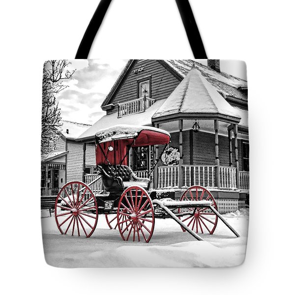 Red Buggy At Olmsted Falls - 2 Tote Bag