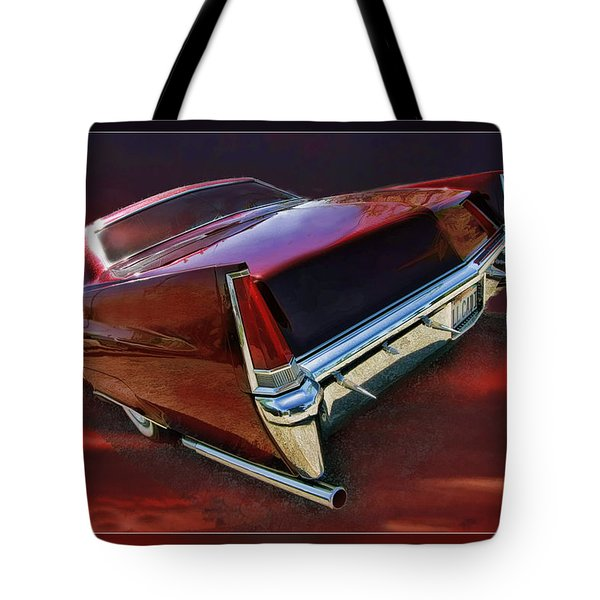 Red Cadillac Tote Bag by Blake Richards