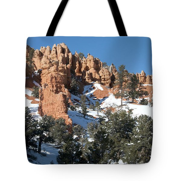 Tote Bag featuring the photograph Red Canyon by Bob and Nancy Kendrick