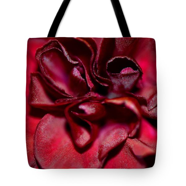 Red Carnation With Heart Tote Bag by Sandi OReilly